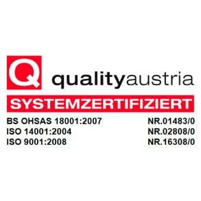 Zertifizierte Qualität bei Pircher
