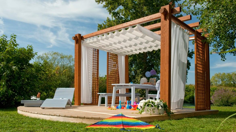 Pircher gazebo in legno for Mobili per terrazzi e giardini