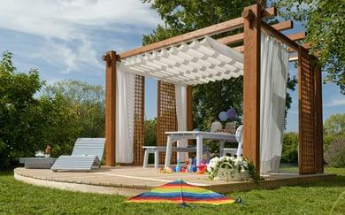 Pircher gazebo in legno for Arredo giardino legno bianco
